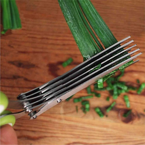 Tijeras Cocina 5 Cuchillas Para Picar