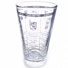 Vaso Boston Vidrio Mixing Glass Con Recetas Español